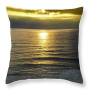 Sunset At Praia Pequena, Small Beach In Sintra Portugal Throw Pillow