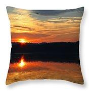 Sunset At Princess Point Throw Pillow