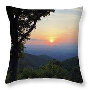 Sunset At Purgatory Mountain Throw Pillow