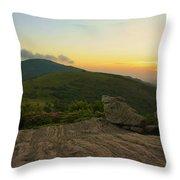 Sunset At Roan Mountain Throw Pillow