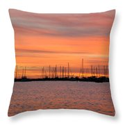 Sunset At Rock Hall, Md Throw Pillow