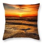Sunset At Saint Petersburg Beach Throw Pillow