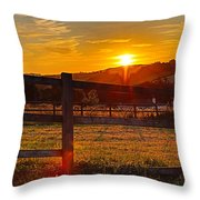 Sunset At Scartaglen Ireland Throw Pillow