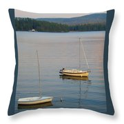 Sunset At Schroon Lake Throw Pillow
