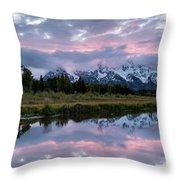 Sunset At Schwabacher Throw Pillow