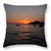 Sunset At Sea Throw Pillow