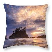 Sunset At Second Beach Throw Pillow