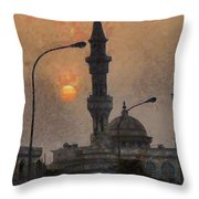 Sunset At Seeb Throw Pillow