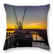 Sunset At Skippers Fish Camp Throw Pillow