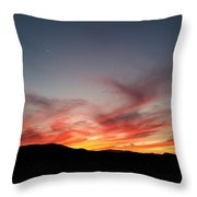 Sunset At Slap Happy Throw Pillow