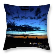 Sunset At Smugglers' Notch, Vermont - Portrait Throw Pillow