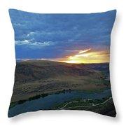 Sunset At Snake River Canyon 1 Throw Pillow