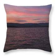Sunset At Squam Lake New Hampshire Throw Pillow