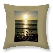 Sunset At St. Petersburg Throw Pillow