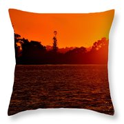 Sunset At Swan River II Throw Pillow
