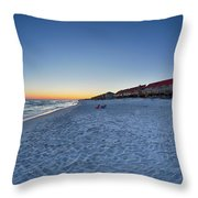 Sunset At The Beach In Florida Throw Pillow