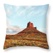 Sunset At The Castleton Tower Throw Pillow