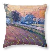 Sunset At The Farm Throw Pillow