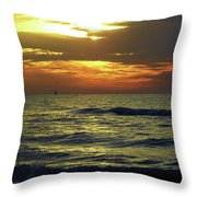 Sunset At The Gulf Throw Pillow