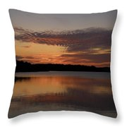 Sunset At The Gulf Of Bothnia 4 Throw Pillow