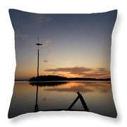 Sunset At The Gulf Of Bothnia  Throw Pillow