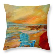 Sunset At The Jetty Throw Pillow