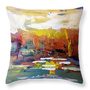 Sunset At The Lake Throw Pillow