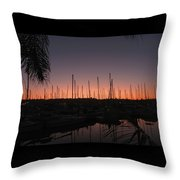 Sunset At The Marina Throw Pillow