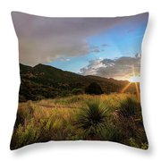 Sunset At The Old Divide Throw Pillow