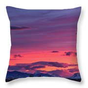 Sunset At The Ranch #2 - Patagonia Throw Pillow