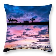 Sunset At The Ranch Throw Pillow