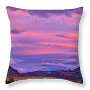 Sunset At The Ranch - Patagonia Throw Pillow