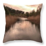 Sunset At The Sandpit In Maarn Throw Pillow