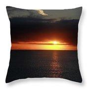 Sunset At The Santa Cruz Wharf Throw Pillow
