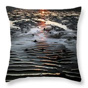 Sunset At The West Shore Llandudno Throw Pillow