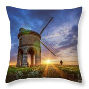 Sunset At The Windmill Throw Pillow