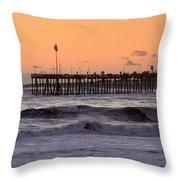 Sunset At Ventura Pier Throw Pillow