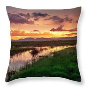 Sunset At Whitewater Draw Throw Pillow