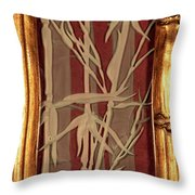 Sunset Bamboo With Frame Throw Pillow