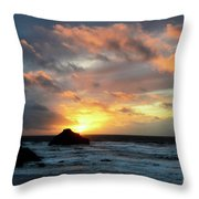 Sunset Bandon By The Sea Throw Pillow