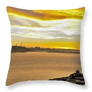 Sunset Bay Throw Pillow by Kelley King