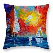 Sunset Bay Throw Pillow