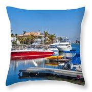 Sunset Beach Bolsa Bay Throw Pillow