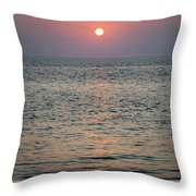 Sunset Beach Cape May New Jersey Throw Pillow