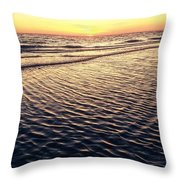 Sunset Beach In Florida Paradise Throw Pillow