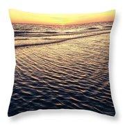 Sunset Beach In Florida Paradise Throw Pillow