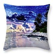 Sunset Beach Park Throw Pillow