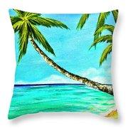 Sunset Beach#370  Throw Pillow
