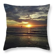 Sunset Beauty At Clearwater Throw Pillow