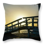Sunset Behind A Lifeguard Station On Venice Beach Ca Throw Pillow